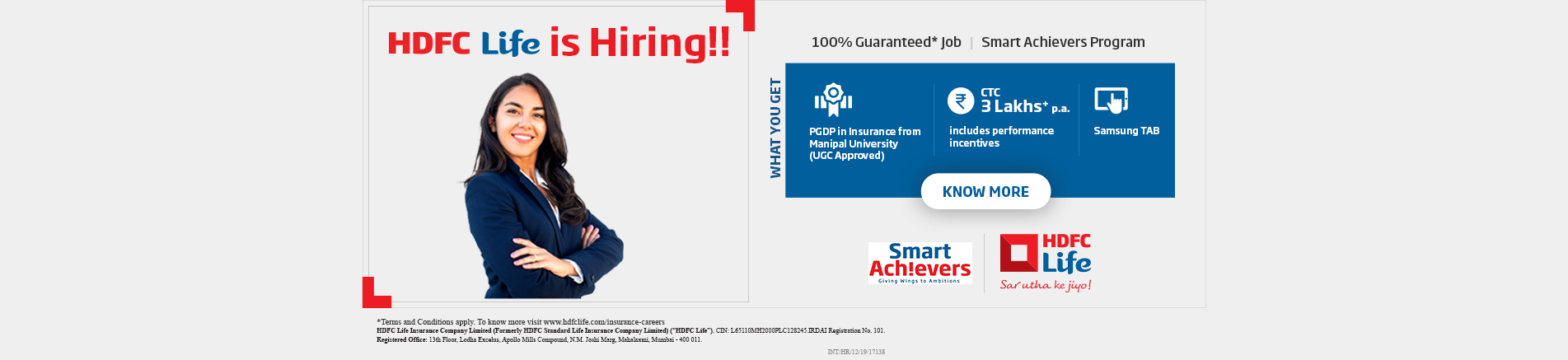HDFC Life is Hiring